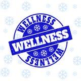 Skyddsremsa för stämpel för WellnessGrungerunda för jul royaltyfri illustrationer