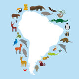 Skyddsremsa för slagträ för lama för tukan för Sydamerika sengångaremyrslok Arkivbild