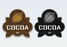 skyddsremsaetikett för kakao 100 Royaltyfri Foto