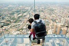 Skydeck Chicago Willis Tower fotos de stock royalty free