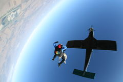 Skydive自由下落 图库摄影