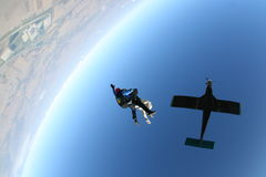 Skydive自由下落 库存图片
