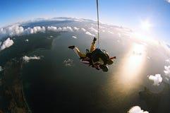 Skydive achter elkaar royalty-vrije stock foto's