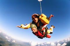 Skydive achter elkaar Stock Afbeelding