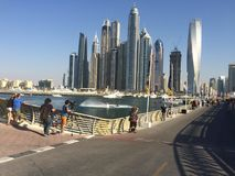 skydive Dubai stock photo