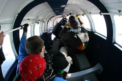Skydive Jitters Stock Photo