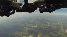 skydive Kijk van de binnenkant stock videobeelden