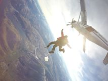 Skydive plane fly. Skydive New Zealand Royalty Free Stock Photo