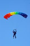 Skydiver. In airshow. Novosibirsk, Airport Mochishe, august 2006 Royalty Free Stock Photography