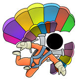 Skydiver Royalty Illustrazione gratis