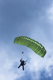 Skydiver. Against a cloudy sky Royalty Free Stock Photo