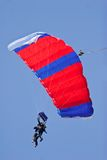 Skydiver. Tandem skydivers floating on the wind Royalty Free Stock Images