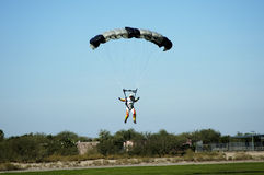 Skydiver 7. Skydiver participating in an international competition Royalty Free Stock Photos