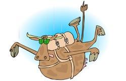 Skydiver bovino ilustração royalty free