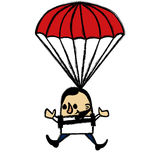 Skydiver businessman Royalty Free Stock Images