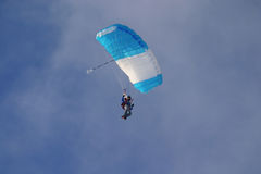 Skydiver with canopy stock photos