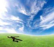 Skydiver, der vom Himmel fällt. Lizenzfreie Stockfotografie