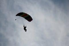 Skydiver en hemel Stock Foto's