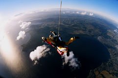Skydiver Falling to Earth Stock Photography