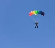 Skydiver femenino Imágenes de archivo libres de regalías