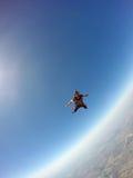 Skydiver i handling Arkivbilder