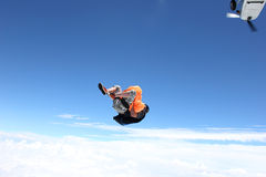 Skydiver jumps from an airplane Royalty Free Stock Photo