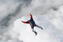 Skydiver nella caduta libera fotografia stock