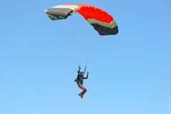 Skydiver on parachute Royalty Free Stock Photo