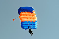 Skydiver on parachute Stock Photography