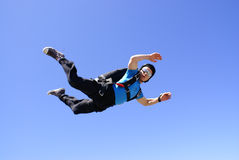 Skydiver in perfect body position Royalty Free Stock Images