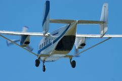 Skydiver's plane take-off Royalty Free Stock Photos