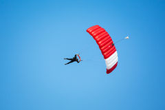 Skydiver in the sky Royalty Free Stock Images