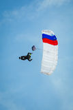 Skydiver in the sky Stock Photos