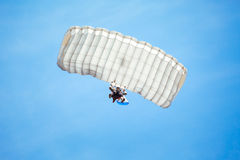 Skydiver in the sky. Skydiver in the blue sky Royalty Free Stock Photo