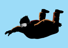 skydiver som skydiving vektor illustrationer