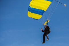 Skydiver. Swoop landing Stock Photography