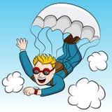 Skydiver urgente de la reunión Foto de archivo libre de regalías