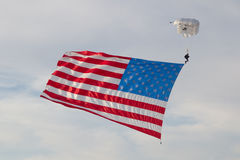 Skydiver US Flag Royalty Free Stock Photo