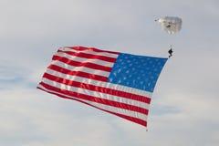 Skydiver USA flaga Zdjęcie Royalty Free