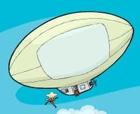 skydivers блимпа иллюстрация штока