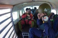 skydivers fotografie stock libere da diritti