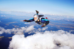 skydivers Royaltyfria Bilder