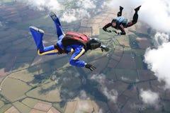 skydivers 2 freefall Стоковое фото RF