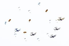 Skydivers. Imagem de Stock Royalty Free