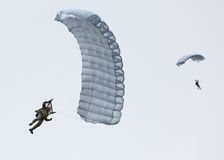 Skydivers. Photographie stock