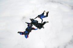 skydivers 3 freefall Стоковое Изображение RF