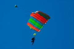 Skydivers em tandem Foto de Stock Royalty Free