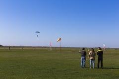 Skydivers lądować Obraz Stock
