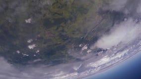 Skydivers som laget hoppar från flygplanet, gör bildande i himmel höjd Extremt jippo arkivfilmer