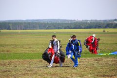 Skydivers Royalty Free Stock Photography